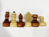 шахматные фигуры обиходые лак в пакете NEW