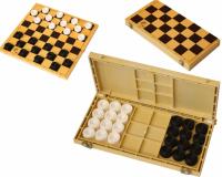 шашки пластик в пластиковой доске