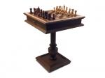 Шахматный стол Эксклюзив, темный с фигурами