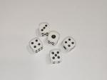 Кости игральные 12 мм Белые