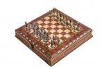 Шахматы Илиада мини роза антик