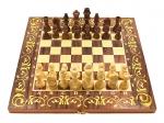 шахматы 3 в 1 Махагон