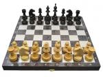 Шахматы гроссмейстерские черное серебро