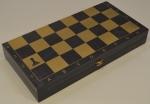доска шахматная черная золото