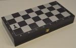 Доска шахматная черное серебро