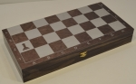 Доска шахматная венге серебро