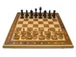 Шахматы Гамбит 3 в 1 орех утяжелённые