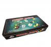 Покерный набор на 300 фишек с номиналом в жестяном боксе