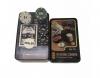 Покерный набор на 80 фишек с номиналом в металлической коробке