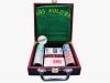 Покерный набор на 100 фишек в деревянном кейсе