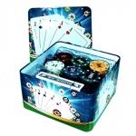 Покерный набор на 120 фишек в квадратном боксе.