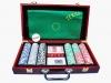 Покерный набор на 300 фишек в деревянном кейсе