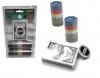 Покерный набор на 80 фишек с номиналом в блистере