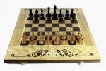 Шахматы, нарды, шашки 3в1 дуб