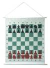 доска демонстрационная шахматная в тубусе