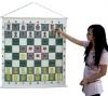 Демонстрационная виниловая шахматная доска с карманами